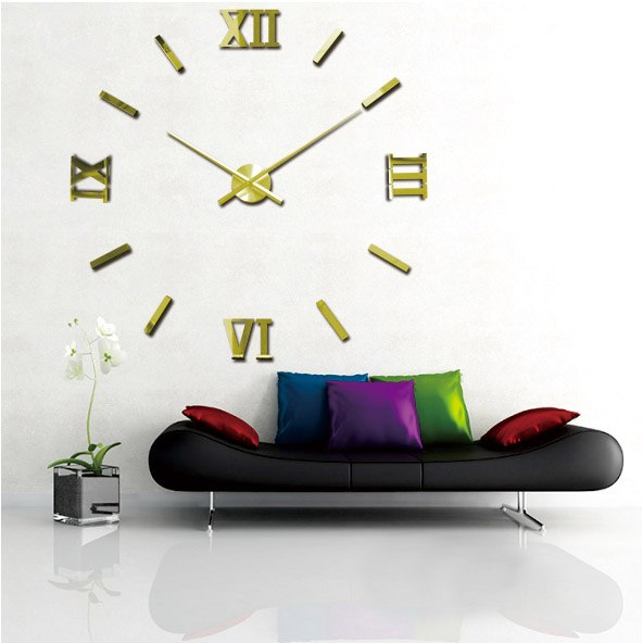 2015 new 3D Fashion Design Large Wall Clock Home Decor Diy Clock