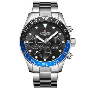 Naviforce Stainless Steel Casual Quartz