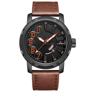 Naviforce Leerband Triger Quartz
