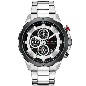 Curren Hombres Business Edition Stainless Steel 3 Bar