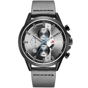 Curren Business Chrono Leerband Quartz
