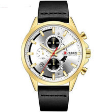 Afbeelding in Gallery-weergave laden, Curren Business Chrono Leerband Quartz