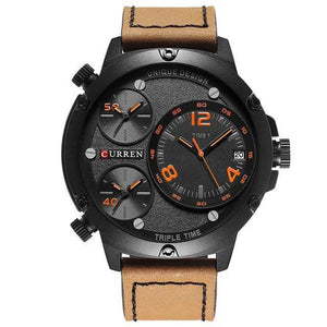 Curren Analoog  Sportief Quartz Waterdicht 3 Bar Leerband