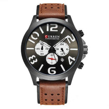 Afbeelding in Gallery-weergave laden, Curren Chronometer Leerband Quartz 3 Bar