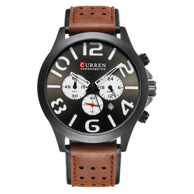 Curren Chronometer Leerband Quartz 3 Bar
