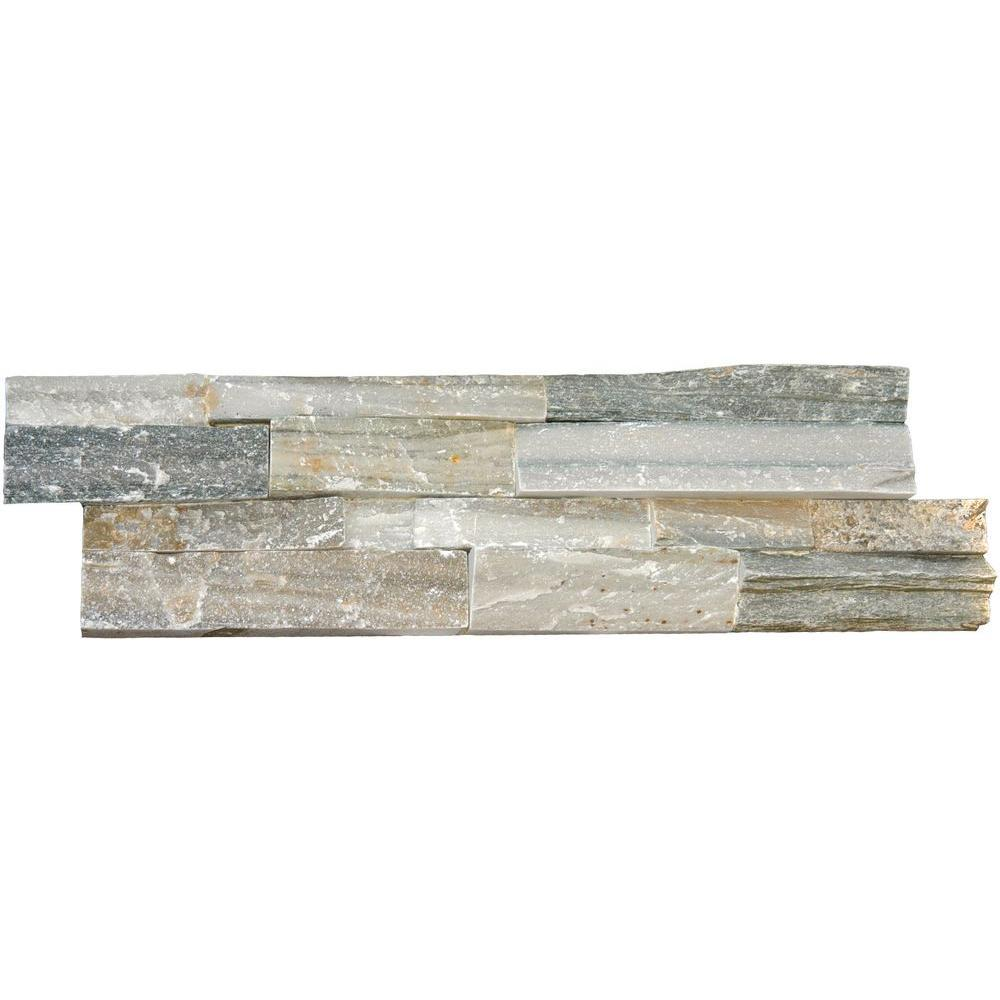 MS International Sierra Blue Ledger Panel 6 in. x 24 in. Natural Quartzite Wall Tile (10 cases / 40 sq. ft. / pallet)