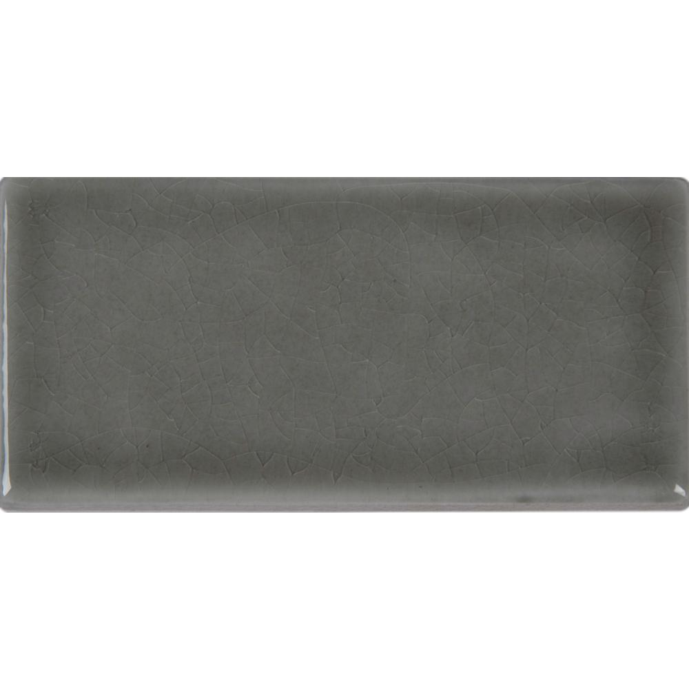 MS International Dove Gray 3 in. x 6 in. Handcrafted Glazed Ceramic Wall Tile (1 sq. ft. / case)