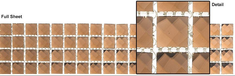 "Glazzio Tiles Honey Baklava (5/8""x5/8"") KS446"