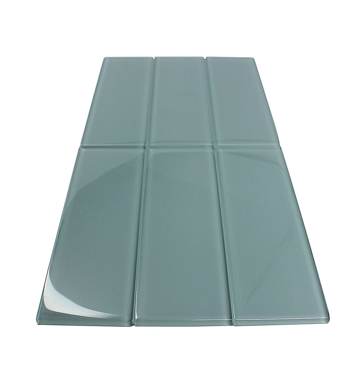 3x9 GRAY GLASS SUBWAY TILES