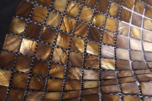 "Premium Quality Onyx Mother of Pearl Sea Shell Mosaic Tile 1"" x 1"" ( on 12"" x 12"" Mesh) -Free Shipping"