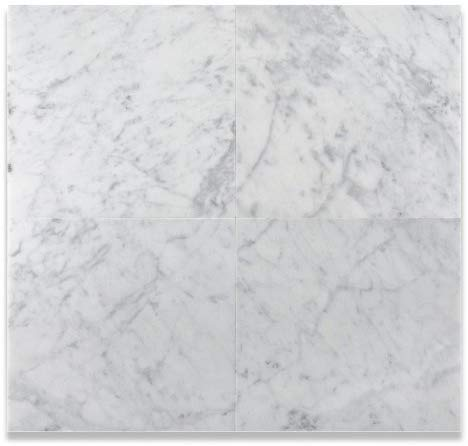 "12"" X 12"" Bianco Carrara White Marble Polished Field Tile - Free Shipping"