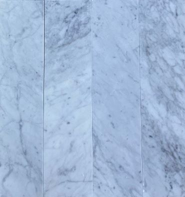 Carrara Marble Italian White Bianco Carrera 3x12 Marble Tile Polished - Free Shipping