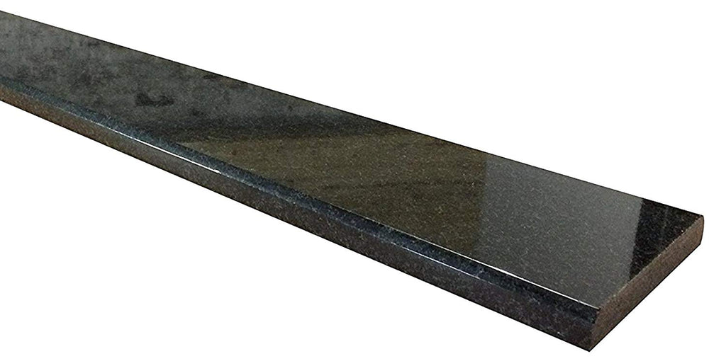 Vogue Tile Absolute Black Marble Granite Threshold (Marble Saddle) - Polished- (Free Shipping)