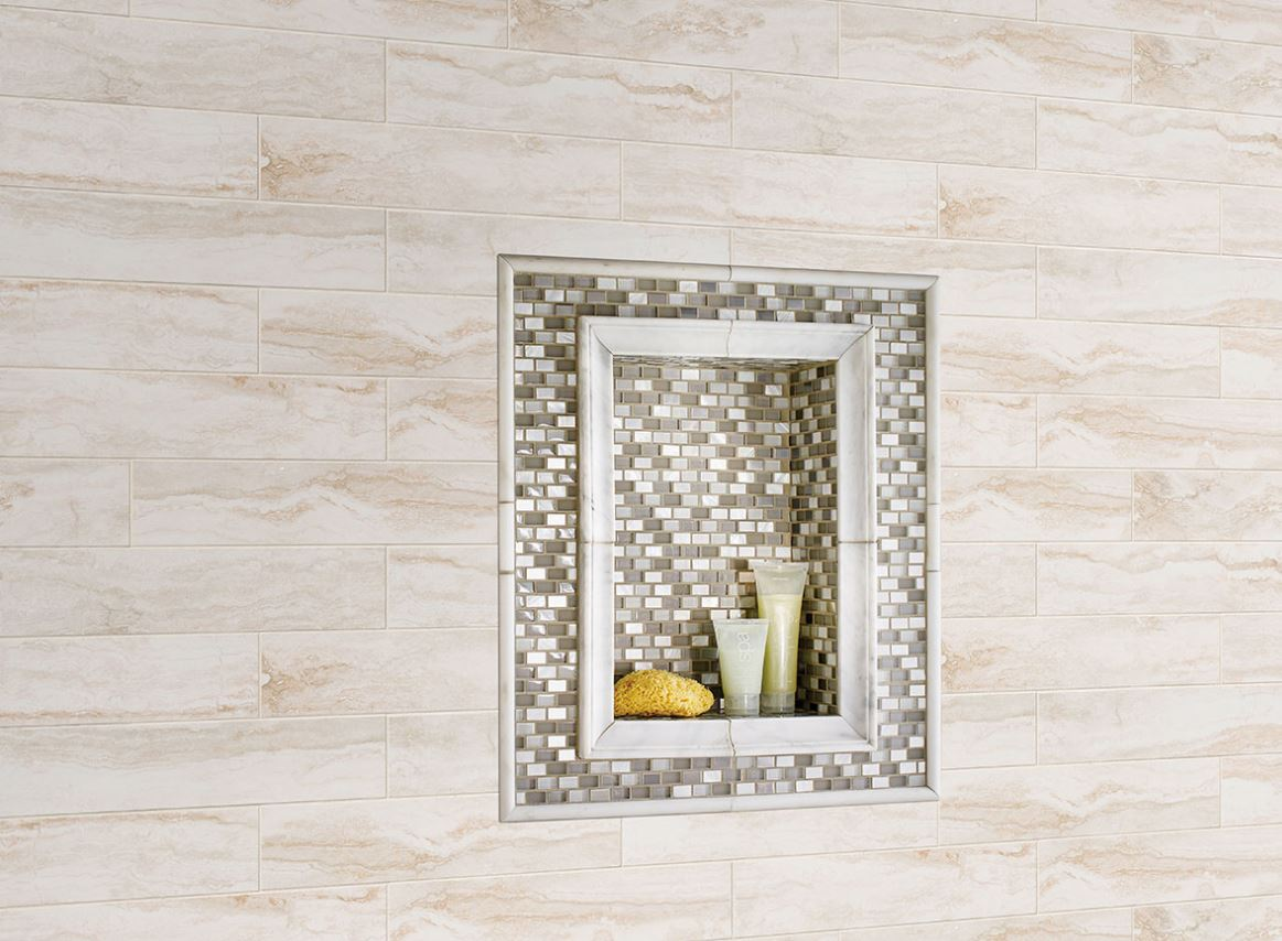 MS International Bernini Bianco 4 in. x 18 in. Matte Porcelain Wall Tile (12.5 sq. ft. / case) - free Shipping