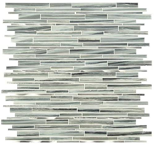 MSI Seaglass Interlocking 12 in. x 11.81 in. x 4mm Textured Glass Mosaic Tile (Box of 10 Sheets)- Free Shipping