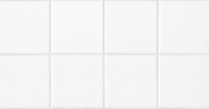"6""x6"" Square White Ceramic Wall Tile (Matte) - Free Shipping"