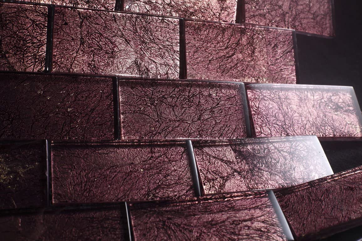 "Vermont Brown - Galaxy Series 2""x4"" Brown Color Glass Tile - Free Shipping"
