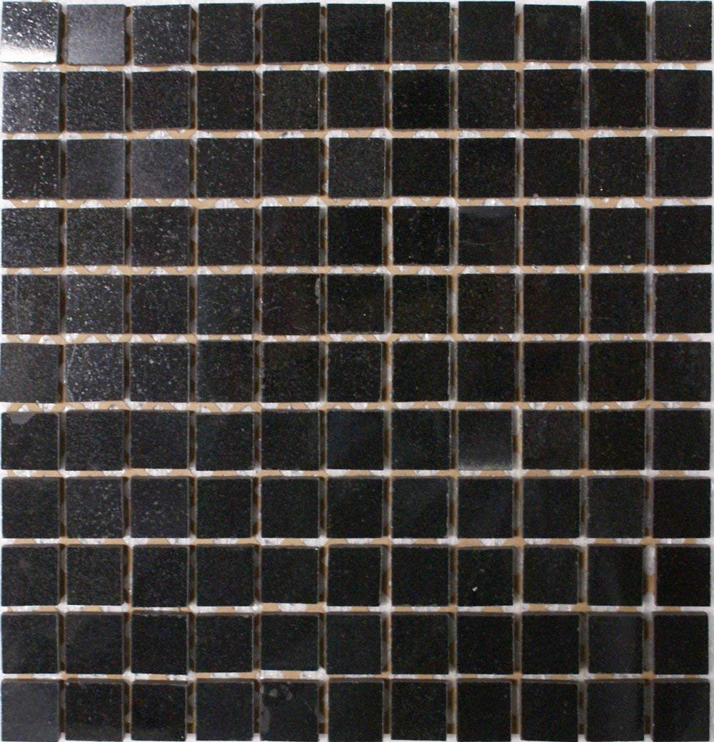 "Epoch Tile AB 1X1"" Square Polished Granite, Absolute Black"