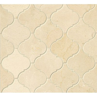 Crema Marfil Marble Arabesque Mosaic Tile  (Polished) - Free Shipping