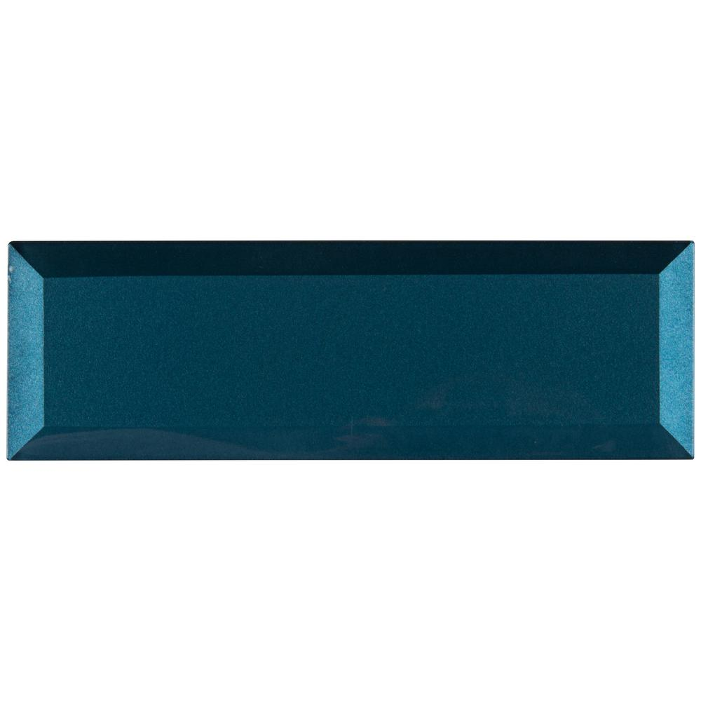 "MSI TAHITI BLUE 2.5 X 8"" GLASS  BEVELED"