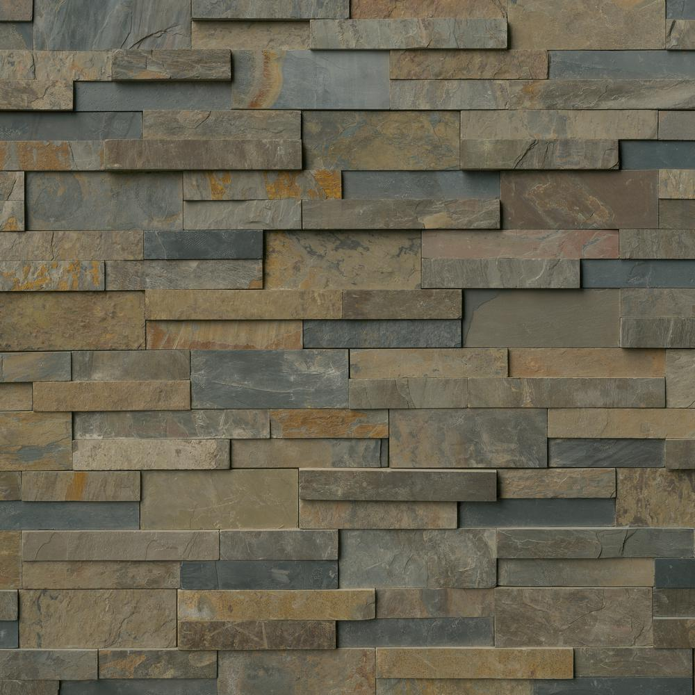 MSI Rustic Gold Ledger Panel 6 in. x 24 in. Natural Slate Wall Tile (60 pieces/60 sq. ft)