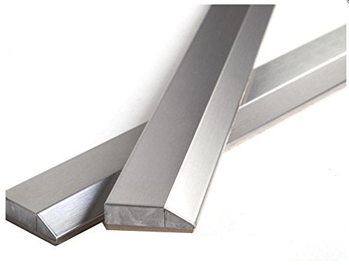 "Vogue Tile 12""  Stainless Steel Metal Bullnose Border Edge Trim, Decorative Wall and Backsplash Tile finished"