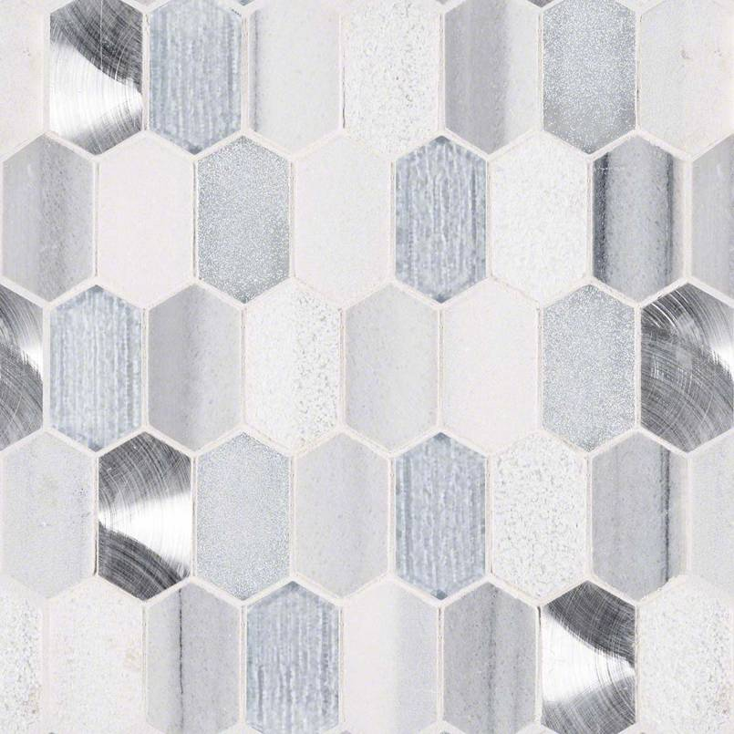 MSI Harlow Picket 8mm Glass Mosaic Tile
