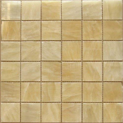 Honey Onyx Marble 2x2 Inch Mosaic Tiles - Polished