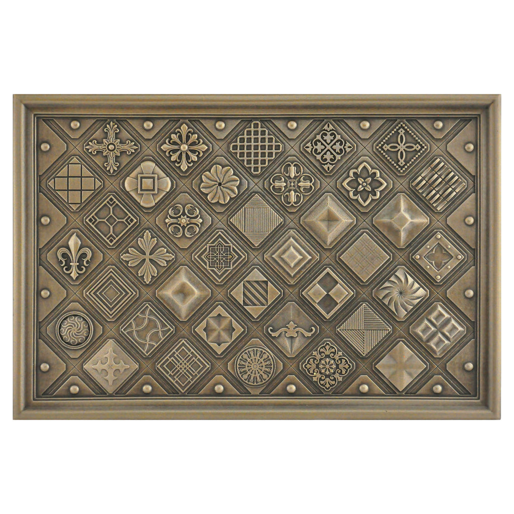 Kitchen Backsplash Premium Contemporary Bronze Metal Mural Hand Made Textured Tile - Free Shipping