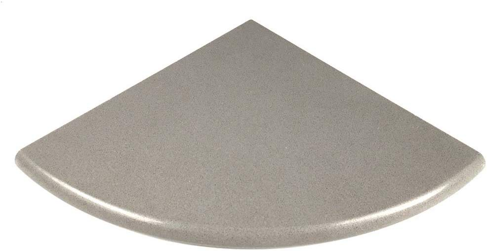 Vogue Tile Premium Quality Gray Granite Grey Marble Corner Shelf Polished 9''