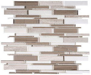 Glazzio Tiles Wooden white+Athen Gray+Thassos mix  CS94
