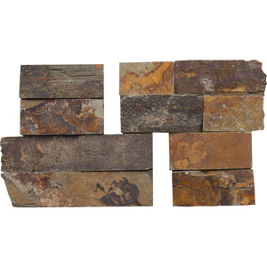 MS International California Gold Ledger Corner 6 in. x 6 in. Natural Slate Wall Tile (2 sq. ft. / case)