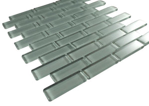Glossy Smoke Subway Glass Mosaic Tile