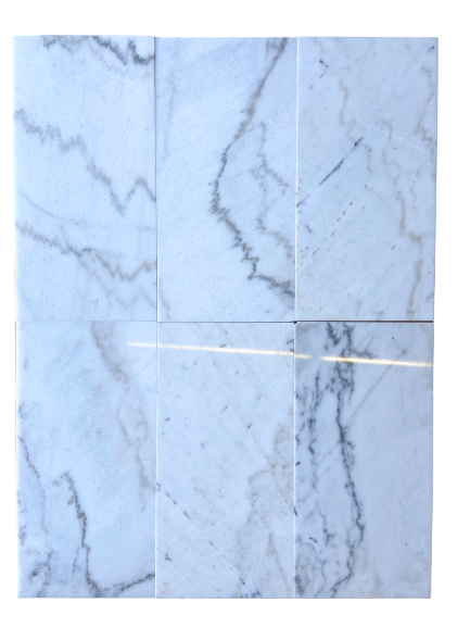 "White and Greyish Marble 12 x 24"" Tile - Polished"