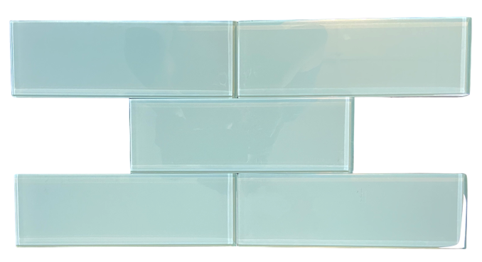 "Premium Quality Soft Mint 3x9"" Glass Subway Tile for Bathroom Walls, Kitchen Backsplashes By Vogue Tile - Free Shipping"