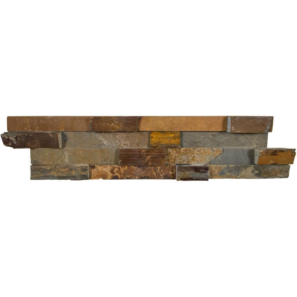 MS International California Gold Ledger Panel 6 in. x 24 in. Natural Slate Wall Tile (4 sq. ft. / case)