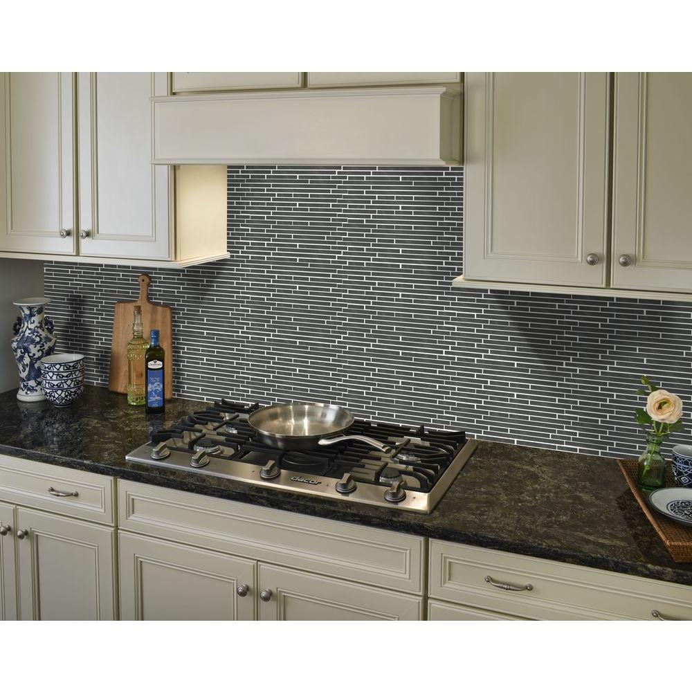 MSI Silver Interlocking 12 in. x 12 in. x 8mm Metal Mesh-Mounted Mosaic Tile
