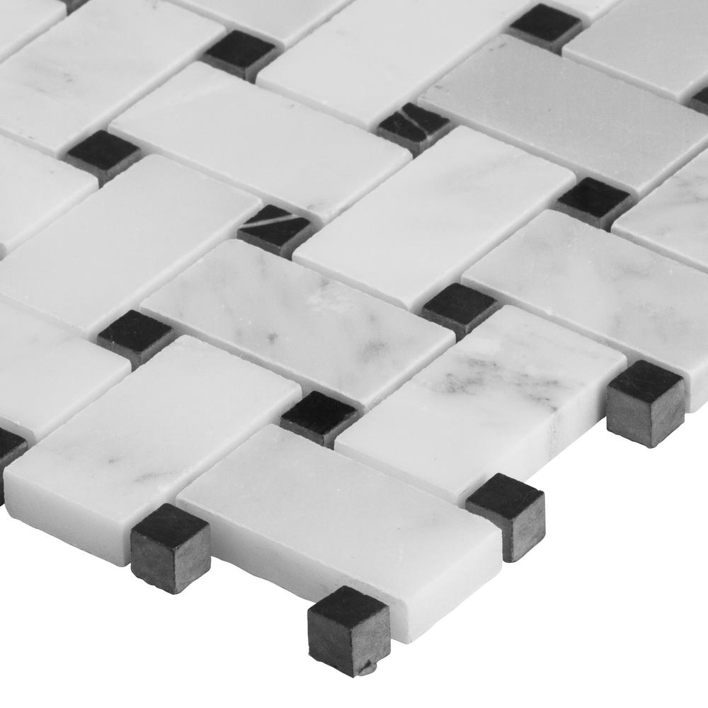 MSI Stone SMOT-GRE-BWP Greecian Basket Weave Pattern Tile with Polished Finish White
