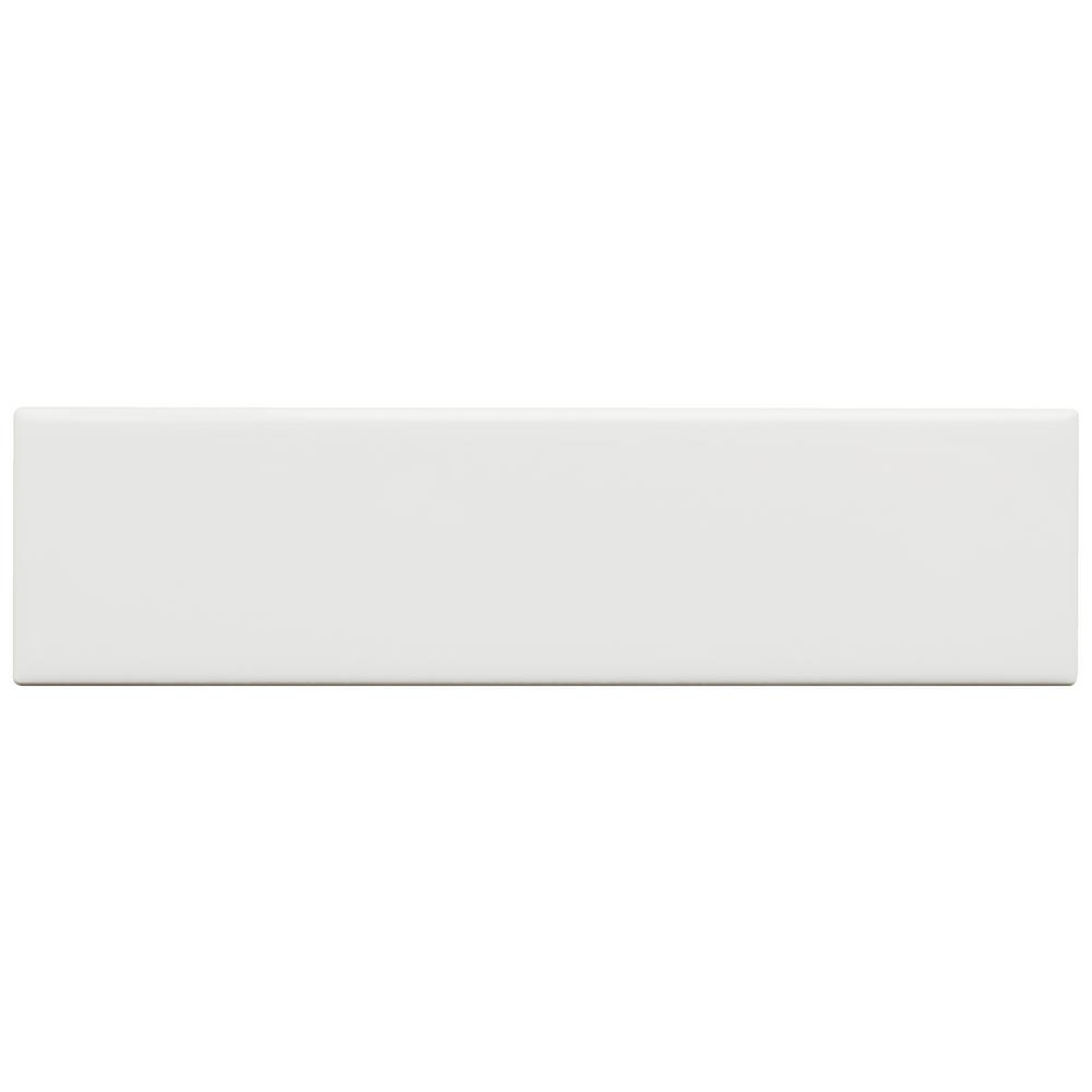 "White Ceramic Subway Tile 3"" X 12"" MATTE (Box of 6 SqFt) - Free Shipping"