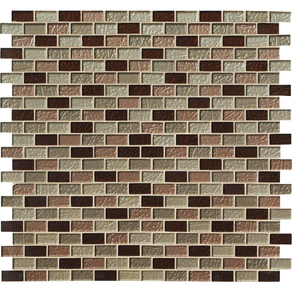 MS International Ayres 1 in. x 2 in. Blend Glass Mesh-Mounted Mosaic Tile