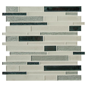 MSI  Anacapri 12 in. x 12 in. x 6mm Blend Textured Glass Mesh-Mounted Mosaic Tile (10 sq. ft./Case) - Free Shipping
