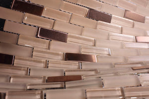Glossy and Matte White Lake Subway Glass Mosaic Tiles