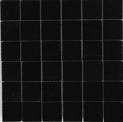 Nero Marquina Black Marble Square Mosaic Tile 2 x 2 Polished