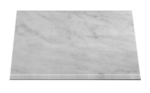 "Carrara Marble Italian White Bianco Carrera 1 1/4"" Marble Slab Honed"