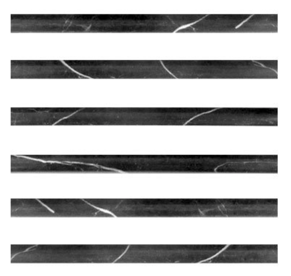 Polished Nero Marquina Black Marble Bullnose Pencil Molding