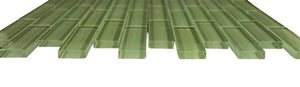 Glossy Green Subway Glass Mosaic Tile