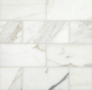 Calacatta Gold (Italian Calcutta) Marble 3 X 6 Subway Field Tile, Polished