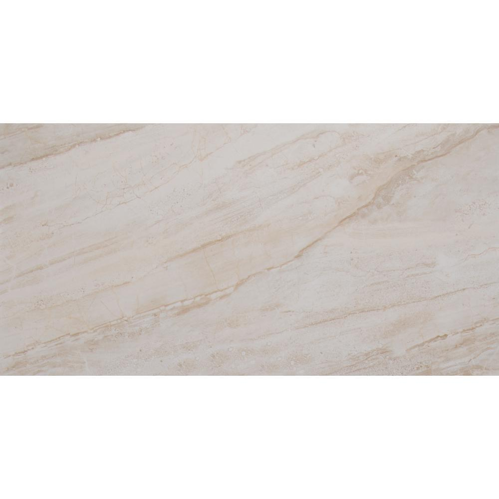 MS International Vigo Beige 12 in. x 24 in. Glazed Ceramic Floor and Wall Tile (16 sq. ft. / case)