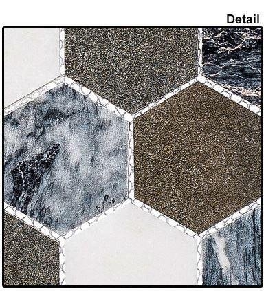 "Glazzio Tiles Presidential Grey (2"" Hex) 	CLNL270"