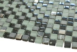 Cloudy Sky Square Glass Mosaic Tile